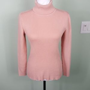 Liz Claiborne Pink Long Sleeve Turtleneck Medium